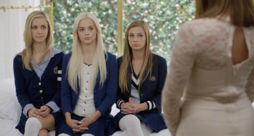Elsa Jean, Rachel James, Sydney Cole - Preppy Girl Threesome Get Three BBC