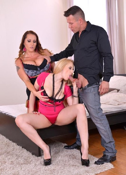 Laura Orsolya aka Laura M., Angel Wicky - Busty Surprise - Two Voluptuous Hotties Get Fucked By Horny Stud