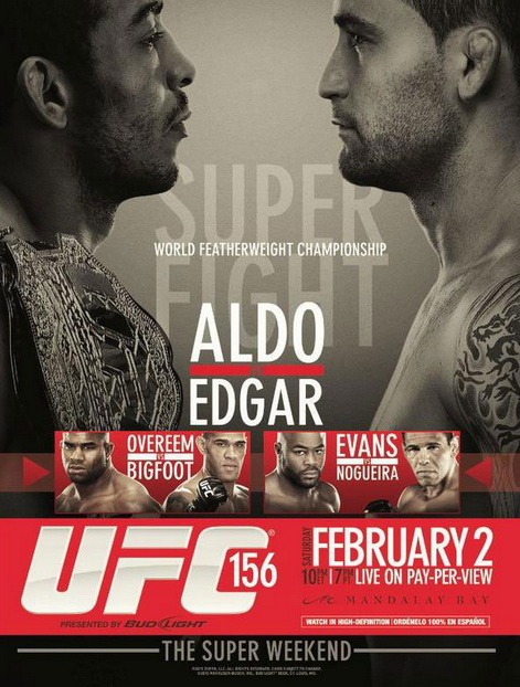 UFC 156 Jose Aldo vs Frankie Edgar