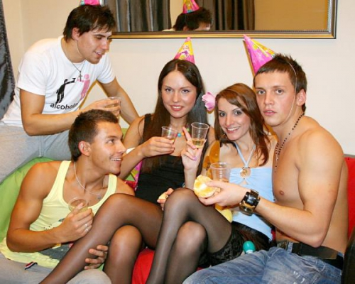 Katarina, Lindsey, Natalie - Sexy College Fuck At B-Day Party Part 1