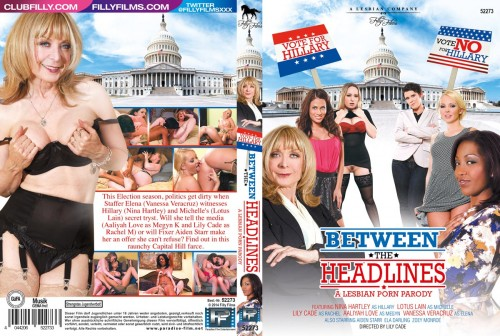 Between The Headlines: A Lesbian Porn Parody