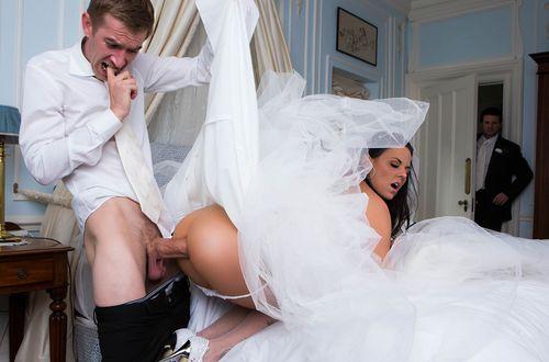 Stuffed in the ass bride friend